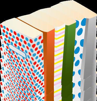 カラフルな本たち