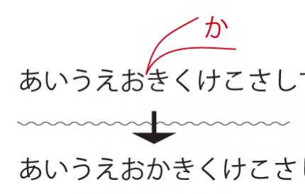 校正記号文字挿入