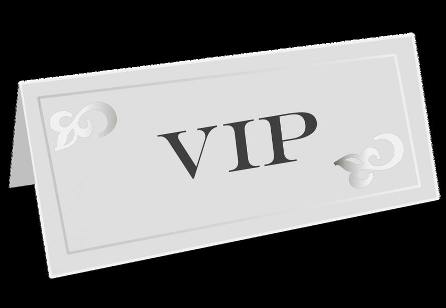 とても重要なお客様 VIP